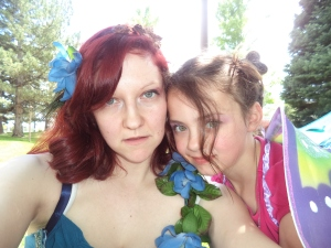 Me and the bean (my step-daughter Railey)