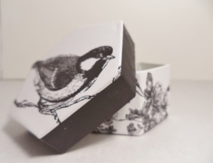 This adorable bird box will hold our first sale!