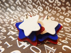 These patriotic earrings aren't on the Etsy site yet but they will be soon!